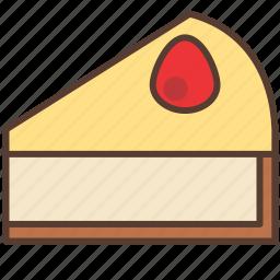 cake, cheese, cream, dessert, strawberry, sweet icon