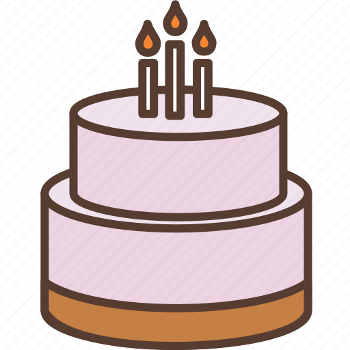 birthay cake, birthday, cake, candle, cream, dessert, sweet icon