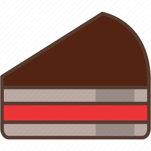 cake, chocolate, coffee, dessert, jam, strawberry, sweet icon