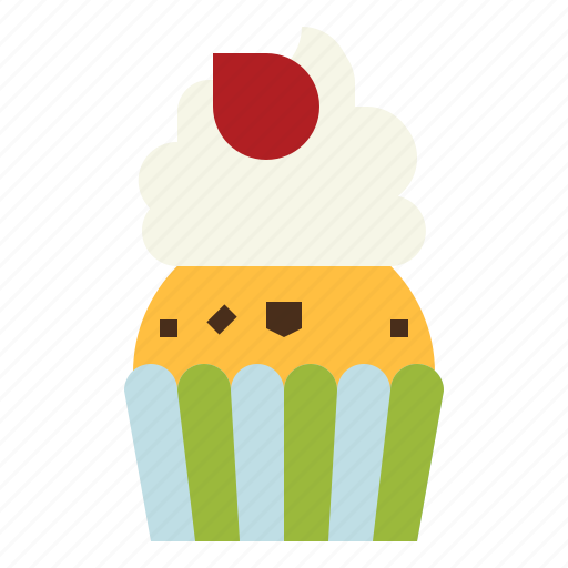 baked, bakery, cupcake, dessert, muffin icon