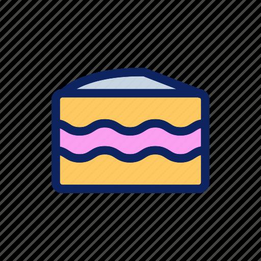 bakery, cake, cheesecake, piece, snack icon