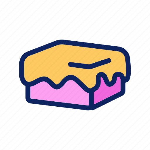 cake, cheesecake, cream, dessert, pastry icon