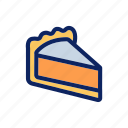 bakery, cake, cheesecake, piece, snack icon