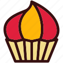 candy, cupcake, dessert, food, happiness, sweets icon