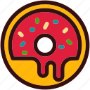 chocolate, dessert, donut, food, happiness, sweets icon