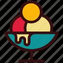 bowl, chocolate, dessert, food, happiness, ice cream bowl, sweets icon