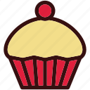 cupcake, dessert, food, happiness, strawberry, sweets icon