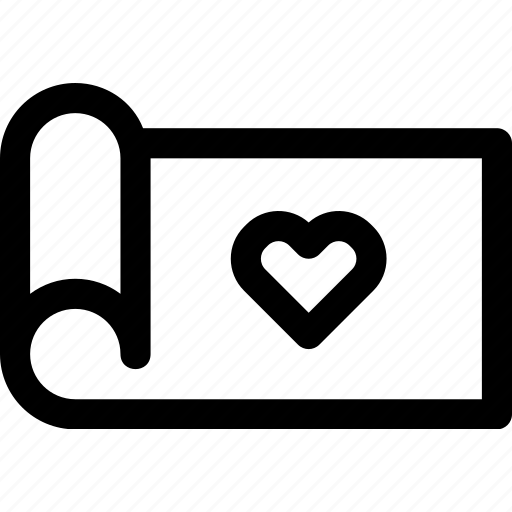 favorite, heart, love, map, paper, passion, sheet icon