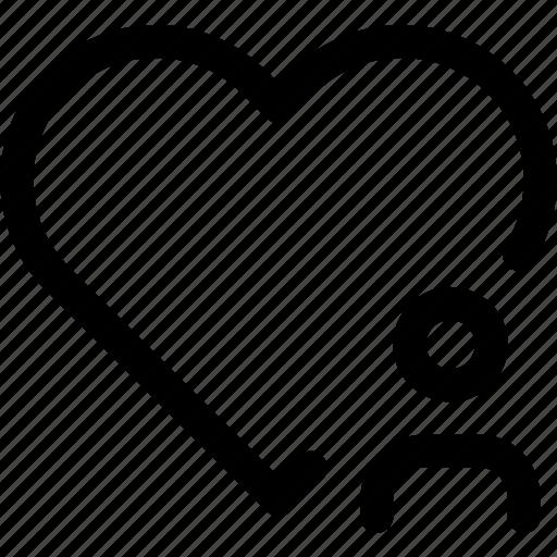 favorite, heart, love, passion, person, user icon