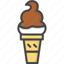 cream, filled, food, ice, ice-cream, outline, sweets icon