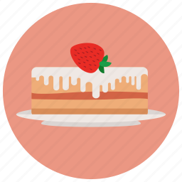 berry, cake, dessert, frosting, fruit cake, strawberry, sweet, sweets icon