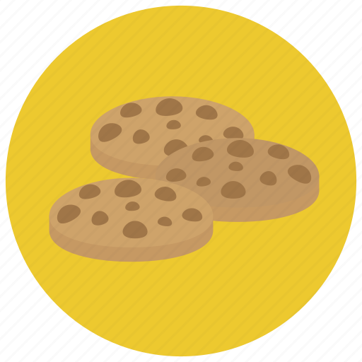 baked, chocolate, chocolate chip, cookie, cookies, pastry, sweets icon