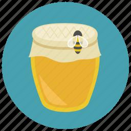 bee, honey, honey jar, sweet, sweets icon