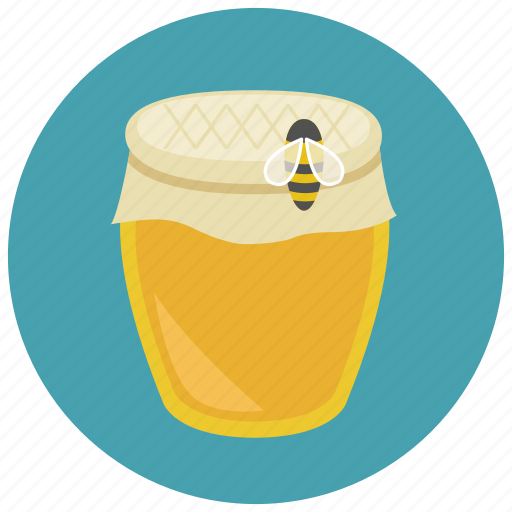 bee, honey, honey jar, sweet, sweets icon