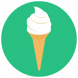 cone, creamy, ice cream, ice cream cone, soft ice, summer, sweets icon