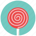 candy, lollipop, lolly, sweet, sweets, swirl icon