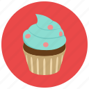 bake, cupcake, frosting, sweets