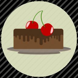 cake, cherry, sweets icon