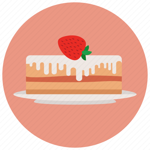 cake, strawberry, sweets icon
