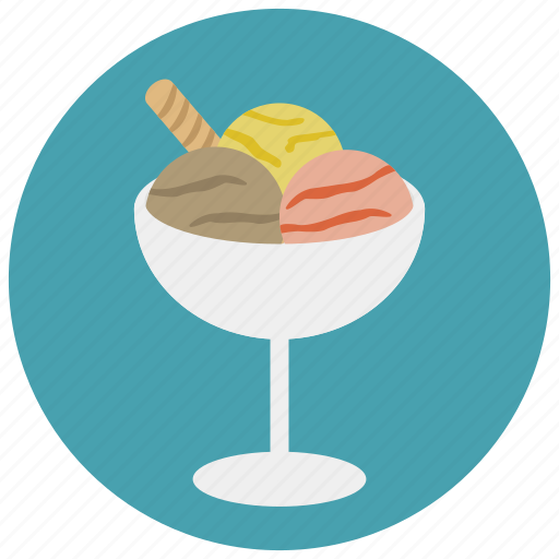 cream, flavours, glass, ice, sweets icon