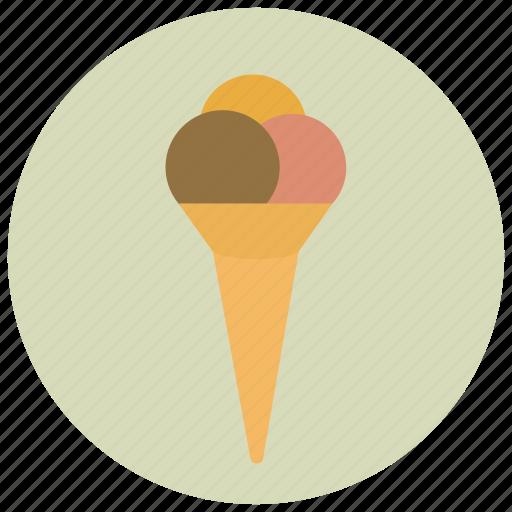 cream, ice, scone, sweets icon
