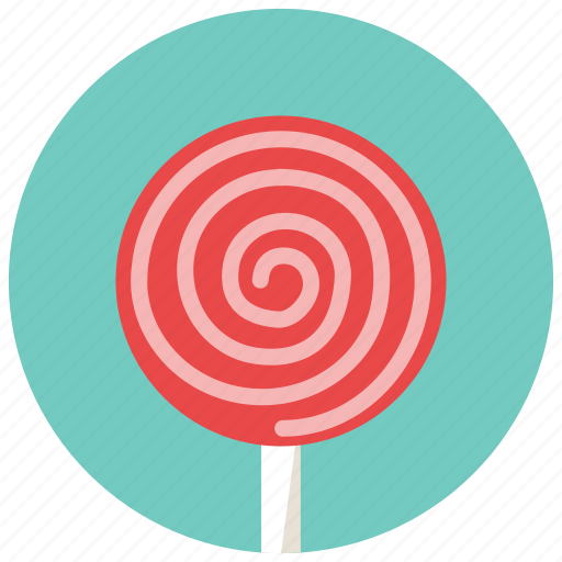 circle, lollipop, round, stick, sweets icon