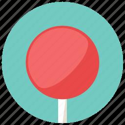 circl, lollipop, round, stick, sweets icon