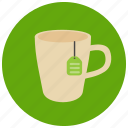 drinks, label, mug, sweets, tea icon