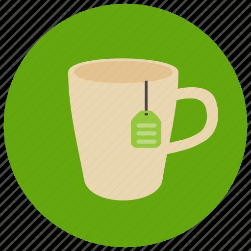 drinks, label, mug, sweets, tea icon