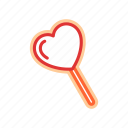 candy, food, heart, sugar icon