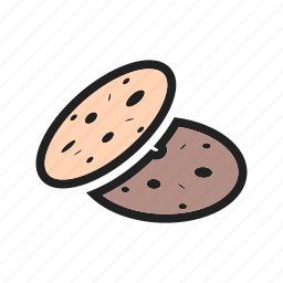 brown, chip, chocolate, cookie, cookies, snack, sweet icon