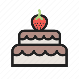 buttercream, cake, chocolate, coconut, fancy, food, sweets icon
