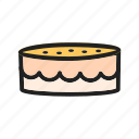 cake, cherry, chocolate, cream, mince, small, sweet icon