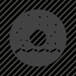 chocolate, dessert, donut, doughnuts, food, sprinkles, sugar icon