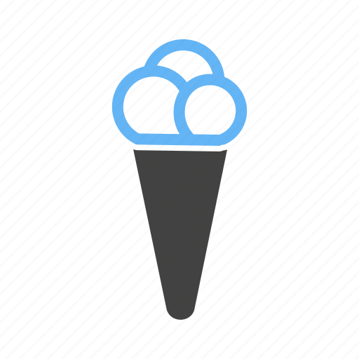 cold, cone, cream, food, ice, scoop, summer icon