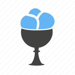 cream, cup, dessert, food, goblet, icecream, strawberry icon