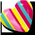 heart, love, striped icon