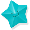 blue, star icon