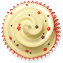 cake, muffin, cupcake, beige