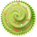 cake, muffin, cupcake, green icon