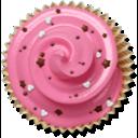 cake, muffin, cupcake, pink