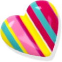 heart, love, striped icon