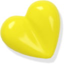 heart, love, yellow