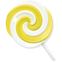 candy, lollypop, yellow icon