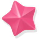 pink, star icon
