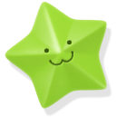 green, star icon
