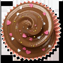 brown, cake, cupcake, muffin icon