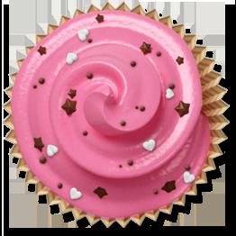 cake, cupcake, muffin, pink icon
