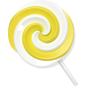 Lollypop, yellow, candy icon