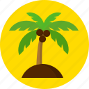 coconut, island, summer, swimming icon